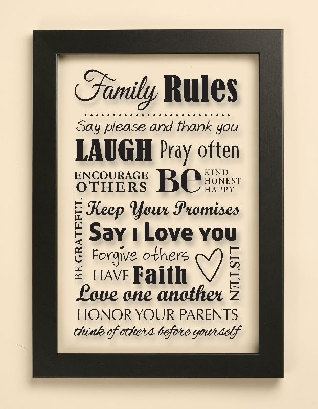 Wall Art Designs: Family Rules Wall Art Canvas Wall Art Family Throughout Canvas Wall Art Family Rules (View 8 of 15)