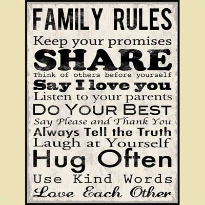 Wall Art Designs: Family Wall Art Rules Inspiration Canvas Wall Throughout Canvas Wall Art Family Rules (Image 15 of 15)