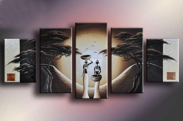 Wall Art Designs: Five Piece Canvas Wall Art Birds Hands Abstract With Abstract Landscape Wall Art (Image 14 of 15)