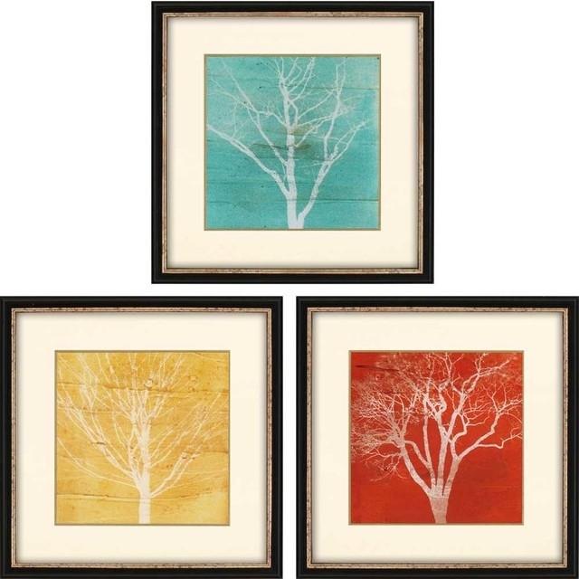 Wall Art Designs: Framed Wall Art Sets Fallen Leaves Artwork Pertaining To Framed Art Prints Sets (Image 12 of 15)