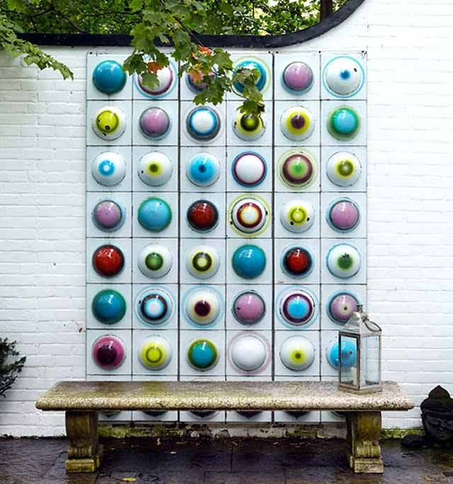 Wall Art Designs: Garden Wall Art Colorfuly Garden Wall Art Pertaining To Abstract Outdoor Wall Art (Image 12 of 15)