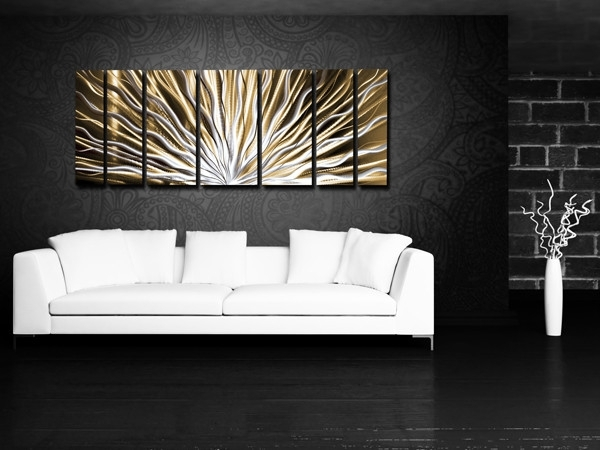 Wall Art Designs: Horizontal Wall Art Modern Abstract Meta Wall Inside Horizontal Abstract Wall Art (View 2 of 15)
