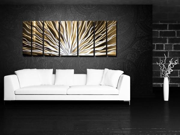 Wall Art Designs: Horizontal Wall Art Modern Abstract Meta Wall Regarding Long Abstract Wall Art (Image 15 of 15)