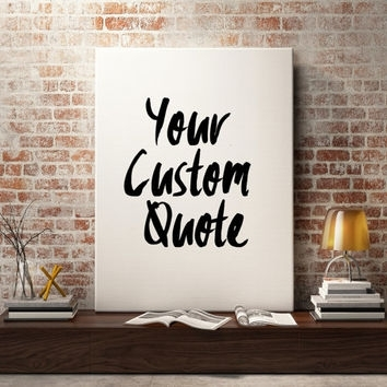Featured Image of Custom Quote Canvas Wall Art