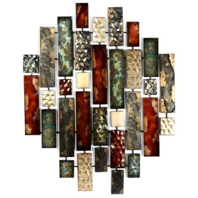 Wall Art Designs: Kirkland Wall Art Metallic Bricks Wall Art Within Kirkland Abstract Wall Art (View 7 of 15)