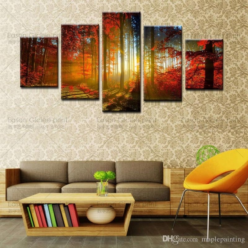 Wall Art Designs: Kirklands Wall Art 5 Panel Forest Painting Regarding Kirklands Canvas Wall Art (View 12 of 15)