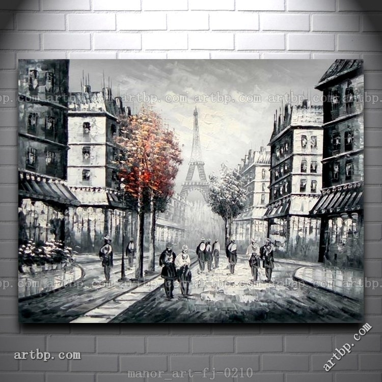 Wall Art Designs: Large Modern Wall Art Large Canvas Wlal Art Hand Pertaining To Canvas Wall Art Of Paris (View 4 of 15)