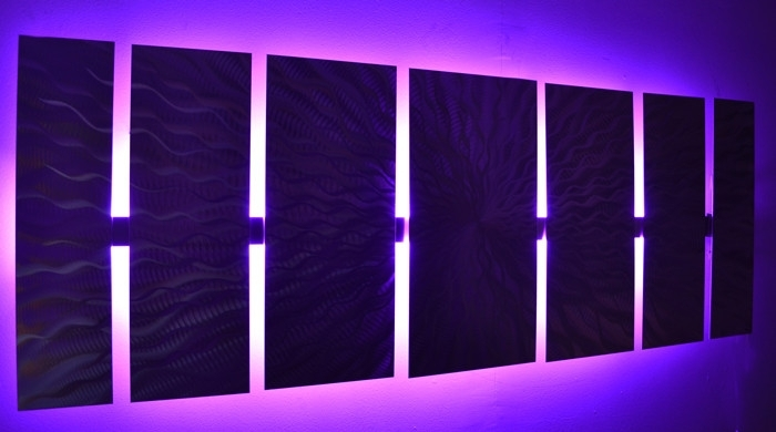 Wall Art Designs: Led Wall Art Abstract Metal Wall Art With Led Pertaining To Light Abstract Wall Art (Image 15 of 15)