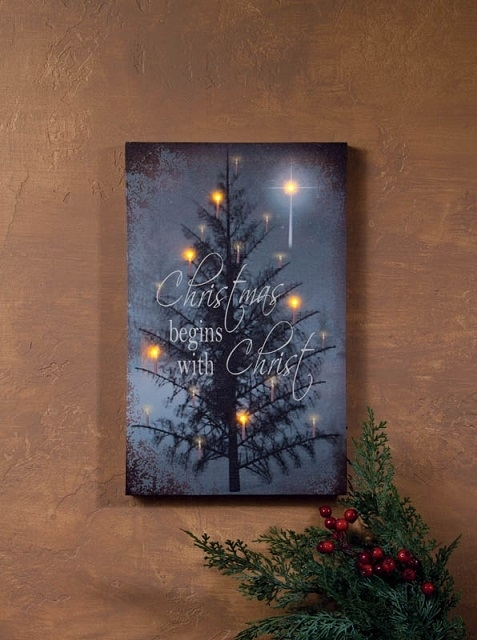 Wall Art Designs: Lighted Wall Art Canvas Christmas Begins With For Lighted Canvas Wall Art (Image 13 of 15)