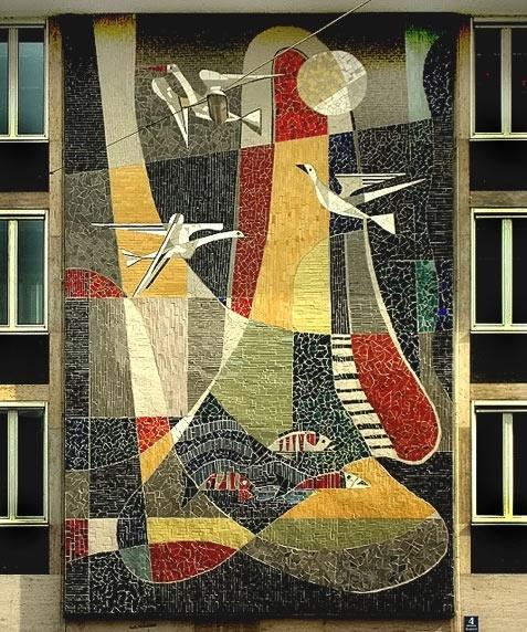 Wall Art Designs: Mosaic Wall Art Birds And Fish Mosaic Mural Inside Abstract Mosaic Art On Wall (View 5 of 15)