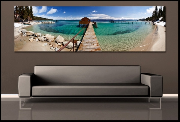 Wall Art Designs: Ocean Wall Art Home Decor, Beach Canvas Art Regarding Panoramic Canvas Wall Art (Image 14 of 15)