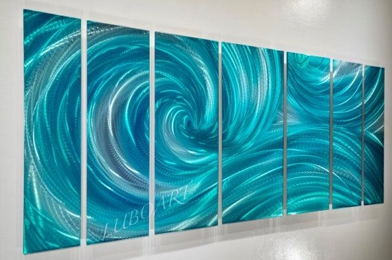 Wall Art Designs: Ocean Wall Art Ocean Dance Turquoise Metal Art Within Abstract Ocean Wall Art (Image 15 of 15)