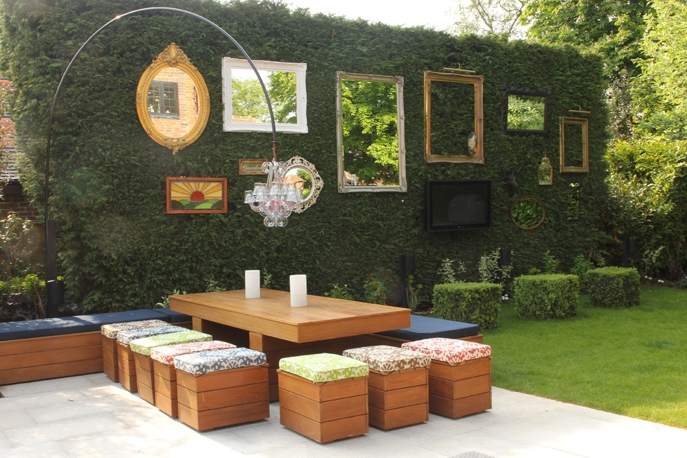 Wall Art Designs: Outdoor Wall Art Painting A Mirror Frame Shabby Pertaining To Outdoor Fabric Wall Art (Image 12 of 15)