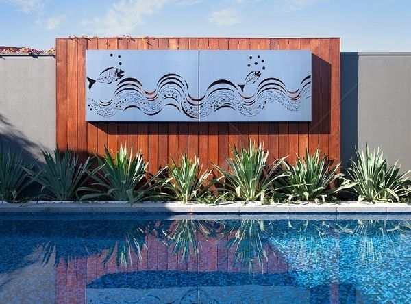 Wall Art Designs: Outdoor Wall Art Painting A Mirror Frame Shabby Throughout Outdoor Fabric Wall Art (Image 13 of 15)