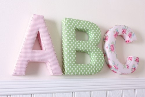 Wall Art Designs: Personalized Name Wall Art Letters Decorative Within Fabric Wall Art Letters (Image 15 of 15)