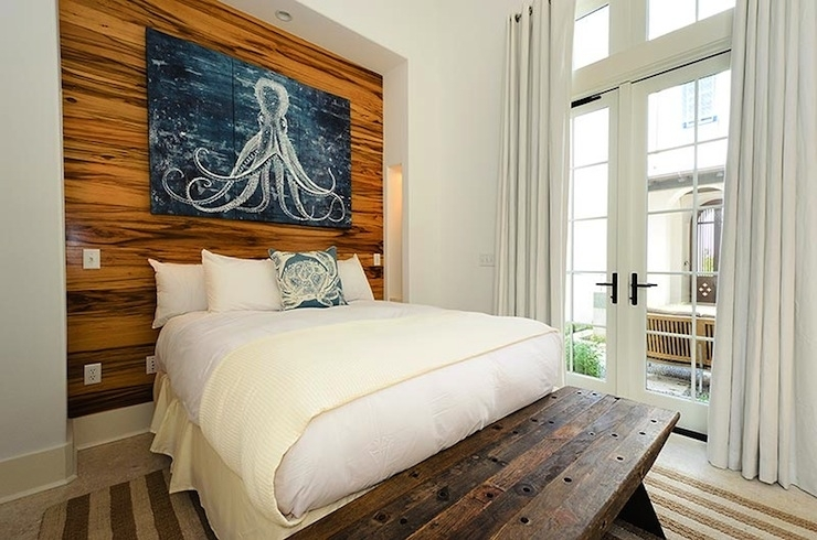 Wall Art Designs: Plank Wall Art Beach Cottage Bedroom With With Wall Art Accents (View 10 of 15)
