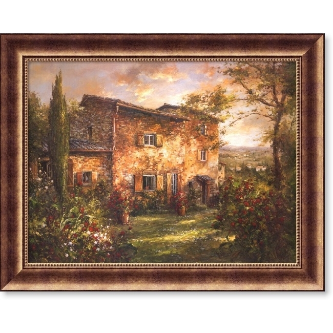 Wall Art Designs: Tuscan Wall Art Andino Tuscan Farm House Framed With Regard To Canvas Wall Art At Wayfair (Image 12 of 15)