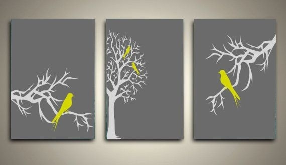 Wall Art Designs: Yellow And Gray Wall Art Navy And Grey Canvas With Grey Canvas Wall Art (Image 15 of 15)