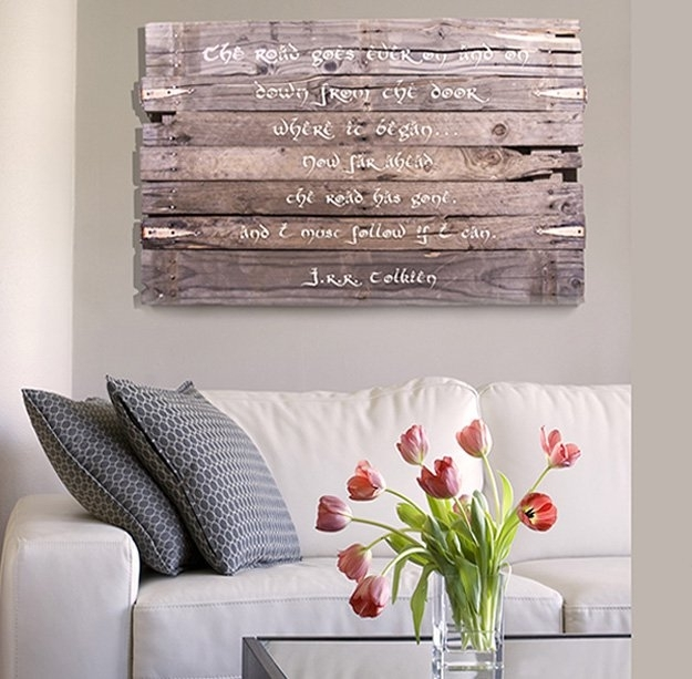 Wall Art Diy Projects Craft Ideas & How To's For Home Decor With Regarding Rustic Fabric Wall Art (View 3 of 15)