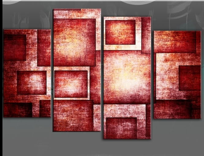 Wall Art: Elegance Design For Red Canvas Wall Art Red And Grey Regarding Red Canvas Wall Art (View 5 of 15)