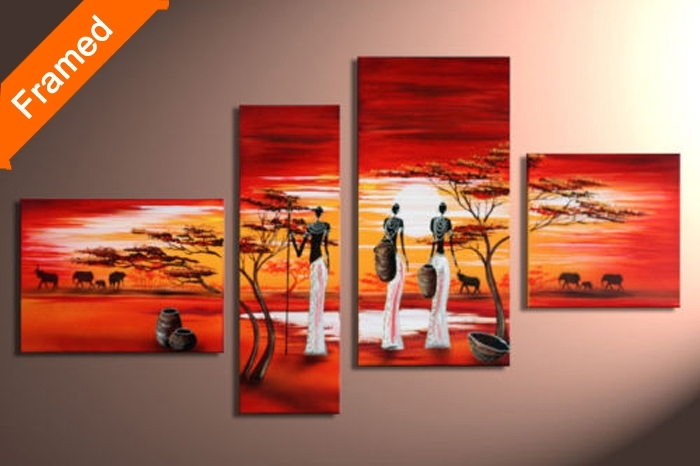 Wall Art: Gallery Of Panel Canvas Wall Art Canvas Art Panel Sets For Ethnic Canvas Wall Art (View 11 of 15)