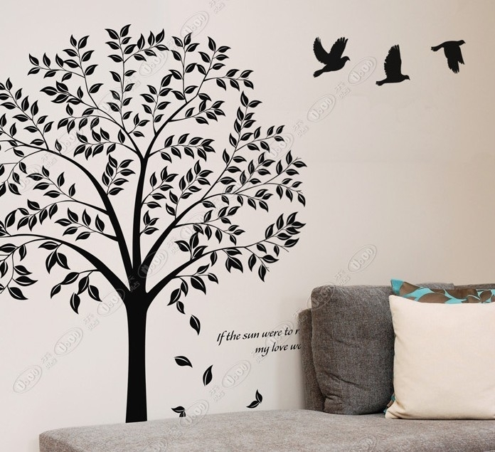 Wall Art Ideas Design : Black Tree Beautiful Wall Art Forest For Fabric Tree Wall Art (View 8 of 15)