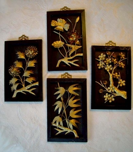 Wall Art Ideas Design : Painting Asian Metal Wall Art Classic Intended For Asian Wall Accents (View 7 of 15)