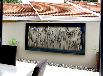 Wall Art Ideas Design : Terrific Contemporary Outdoor Iron Wall Within Abstract Outdoor Metal Wall Art (View 15 of 15)