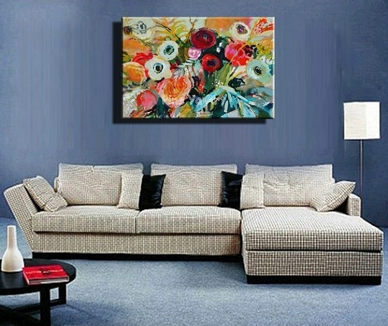Wall Art Ideas For Living Room With Oil Painting Abstract | Home In Abstract Living Room Wall Art (Image 15 of 15)