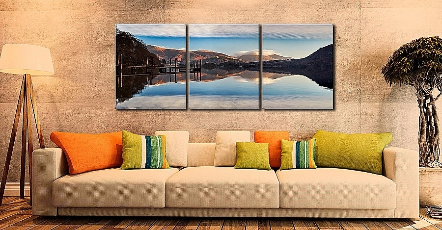 Wall Art Luxury Large 3 Piece Canvas Wall Art High Definition Throughout Lake District Canvas Wall Art (Image 13 of 15)