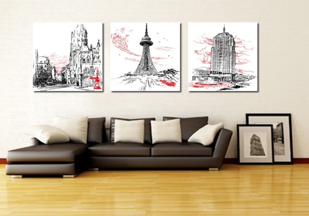 Wall Art: Marvellous Multi Piece Canvas Wall Art Multi Panel With Abstract Canvas Wall Art Iii (View 7 of 15)