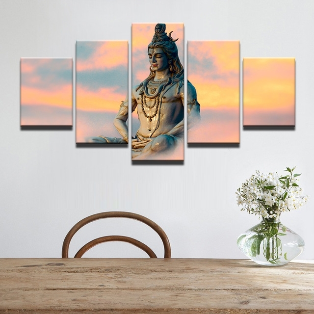 Wall Art Modern Pictures Frame Canvas Hd Printed Painting 5 Piece In India Canvas Wall Art (Image 9 of 15)