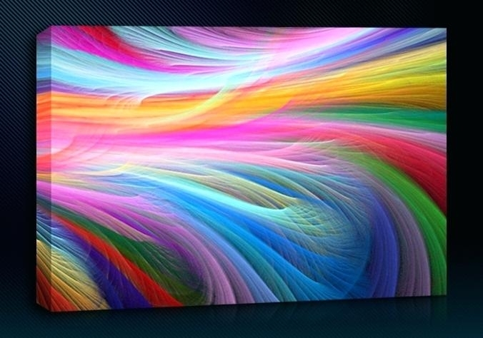 Wall Art Rainbow – Boyintransit With Rainbow Canvas Wall Art (View 2 of 15)