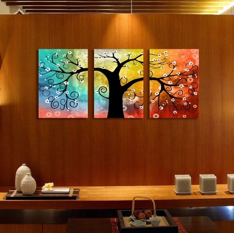 Wall Art Rainbow Tree Of Life Canva (End 4/24/2017 11:15 Am) Regarding Malaysia Canvas Wall Art (View 15 of 15)