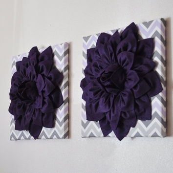 Wall Art – Set Of Two Premier Prints From Bedbuggs On Etsy | Dorm In Purple Fabric Wall Art (View 6 of 15)