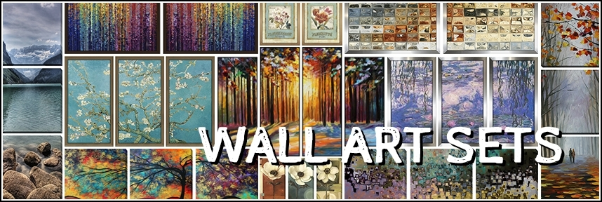 Wall Art Sets – Framed Canvas Art With Groupings Canvas Wall Art (View 8 of 15)