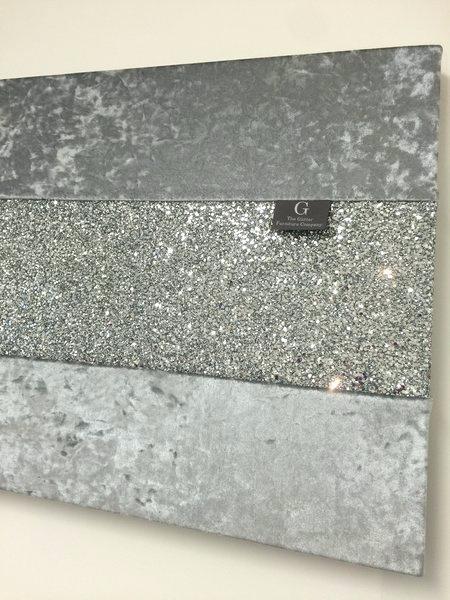 Wall Art Silver Silver Glitter Canvas Wall Art – Bearister For Glitter Canvas Wall Art (View 7 of 15)