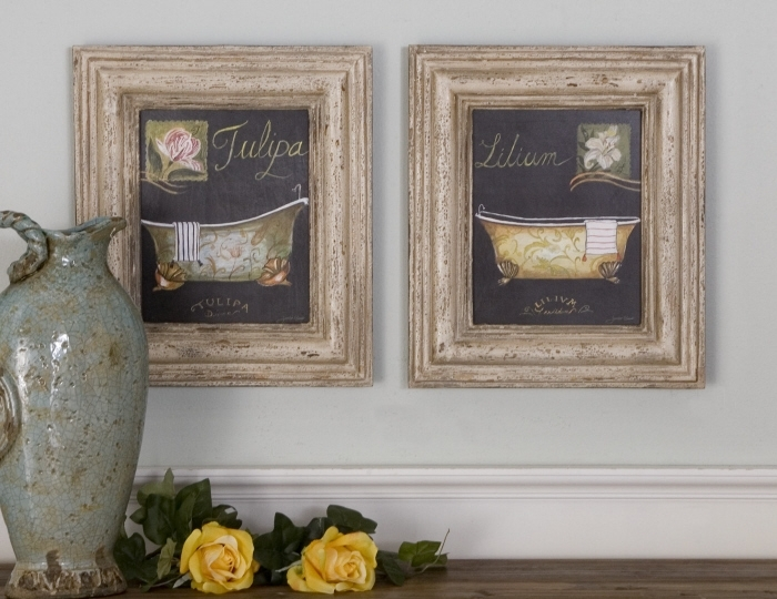 Wall Art: Simple Decoration Framed Bathroom Wall Art Bathroom Pertaining To Framed Art Prints For Bathroom (View 4 of 15)