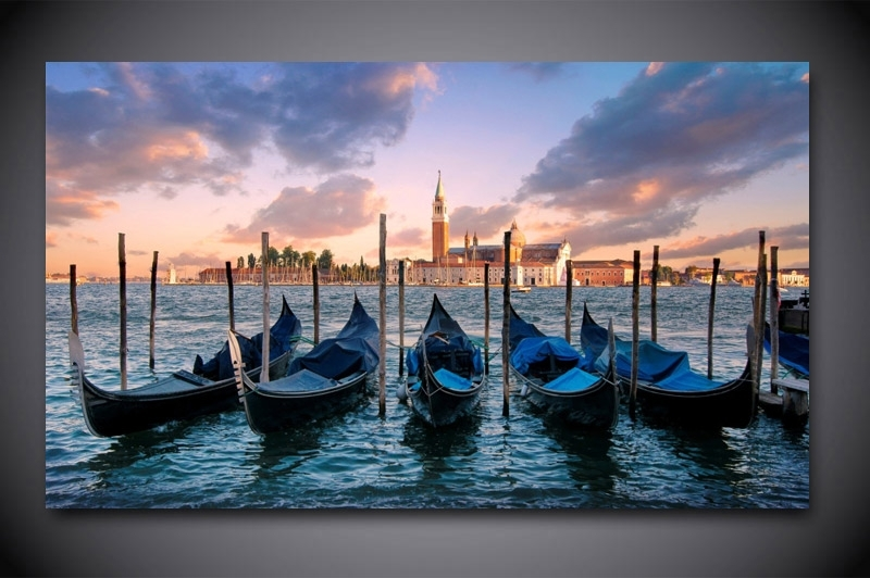 Wall Art: Top 10 Collection Venice Wall Art Venice Beach Art Pertaining To Italy Canvas Wall Art (Image 15 of 15)