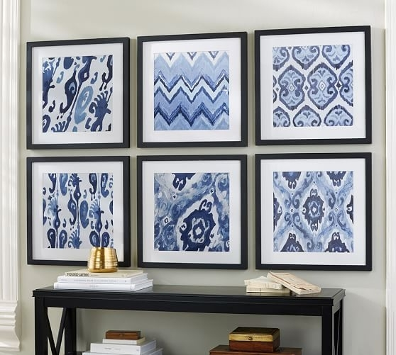 Wall Art Trend: Framing Fabric – Ilevel Intended For Ikat Fabric Wall Art (Image 15 of 15)