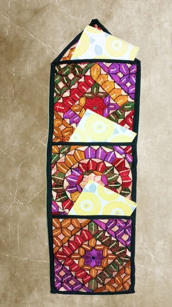 Wall Art,handmade Wall Hanging,beautiful Silk Embroidery,wall Within Handmade Textile Wall Art (Image 15 of 15)