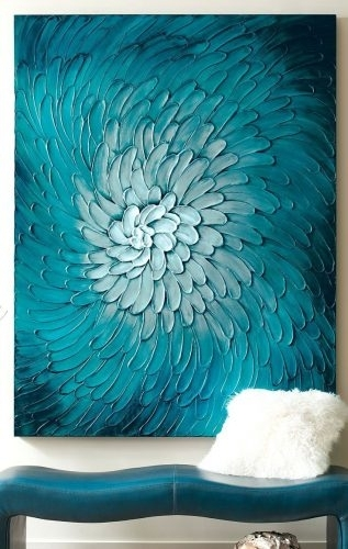 Wall Arts ~ Blue Flora Artwork Olive Green Metal Wall Art Olive With Olive Green Abstract Wall Art (View 14 of 15)