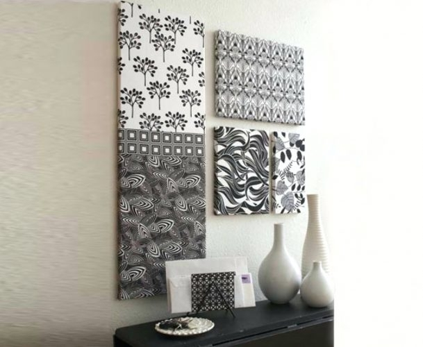 Wall Arts ~ Fabric For Wall Art Hangings Home Decorating Diy Inside Fabric Wall Art Frames (Image 14 of 15)