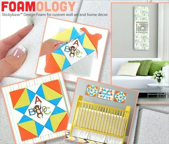 Wall Arts ~ Foamology 101 How To Turn Favorite Embroidery Samples For Fabric Covered Foam Wall Art (Image 15 of 15)