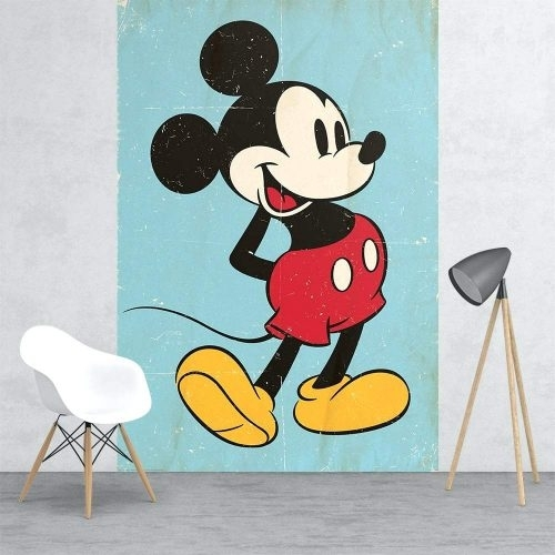 Wall Arts ~ Mickey Mouse Vinyl Wall Art Disney Mickey Mouse Canvas Inside Mickey Mouse Canvas Wall Art (View 11 of 15)