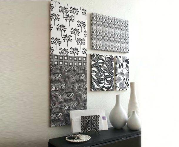 Wall Arts ~ White Box Frame Wall Art Frames For Fabric Wall Art In Outdoor Fabric Wall Art (Image 14 of 15)