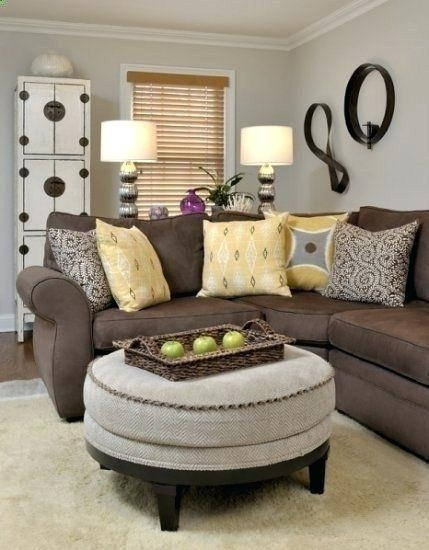 Wall Colors For Brown Furniture Decor Around Distressed Leather Pertaining To Brown Couch Wall Accents (Image 14 of 15)