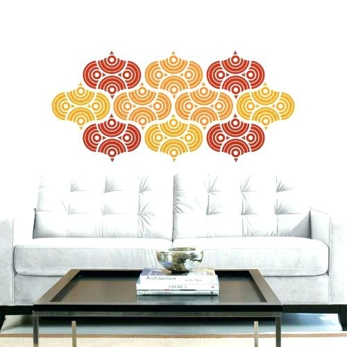 Wall Decor Adhesive Family Monogram Wall Decal Vinyl Wedding Pertaining To Adhesive Art Wall Accents (View 14 of 15)