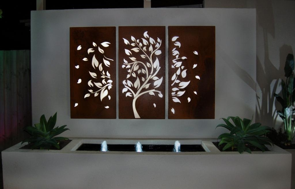 Wall Decor: Beautiful Garden Wall Decorations Online Outdoor Wall Within Australia Wall Accents (View 2 of 15)