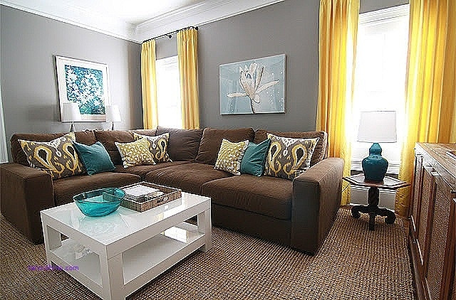 Wall Decor: Brown Sofa Yellow Wall Decoration Inspirational Gray Regarding Brown Furniture Wall Accents (Image 15 of 15)
